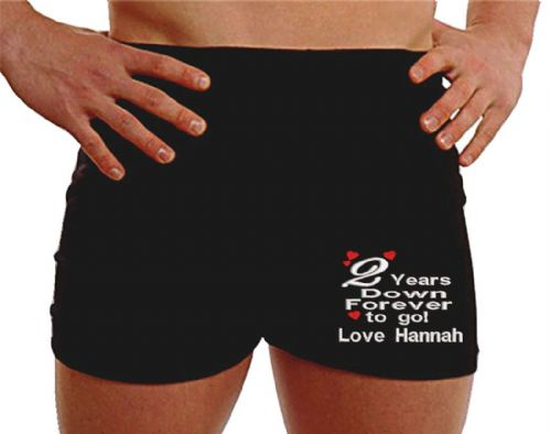 Personalised underwear men 2nd anniversary present LEG gifts for husband custom uk